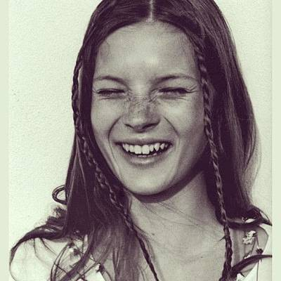 Icon Photograph - 🎈#tbt #katemoss #happybirthday To An by Brooke Lamb