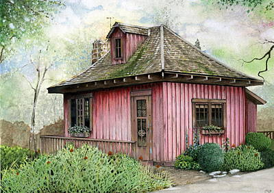 T.c. Steele Cottage Art Print by John Christopher Bradley