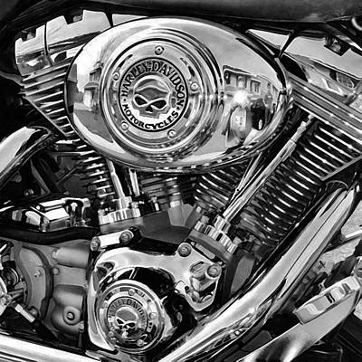 V-twin Black Art Print