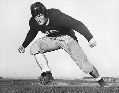 Worth Photograph - Tcu Football Star Aldrich by Underwood Archives
