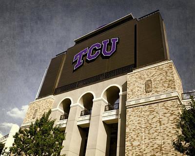 Fort Worth Texas Photograph - Tcu Stadium Entrance by Joan Carroll