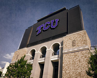 Sports Royalty-Free and Rights-Managed Images - TCU Stadium Entrance II by Joan Carroll