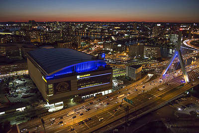 Photograph - Td Garden At Night. by Dave Cleaveland