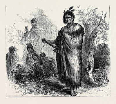 New Zealand Drawing - Te Kooti, The Maori Chief And Leader Of Insurgents In New by New Zealand School
