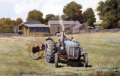 Te20-fergy In The Fields Art Print by Anthony Forster