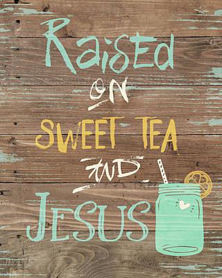 Painting - Tea & Jesus by Jo Moulton