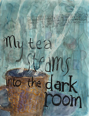 Contemplative Painting - Tea by Alexandra Schaefers