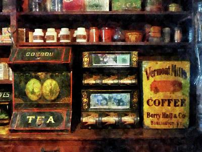 Tea And Coffee Print by Susan Savad
