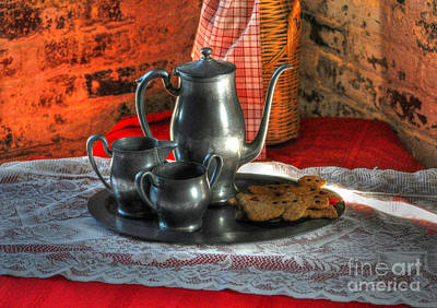 Photograph - Tea And Gingerbread Cookies by Kathy Baccari