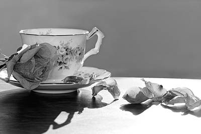 Photograph - Tea And Roses Still Life by Lisa Knechtel