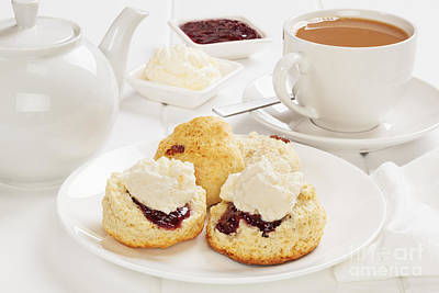 Devon Photograph - Tea And Scones by Colin and Linda McKie