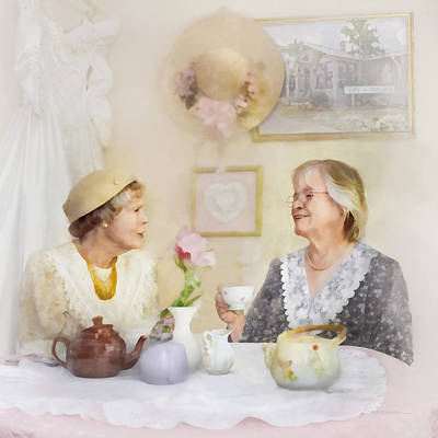 Tea And Talk Art Print