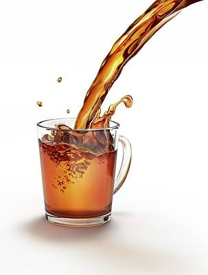 Pour Photograph - Tea Being Poured Into A Glass by Leonello Calvetti
