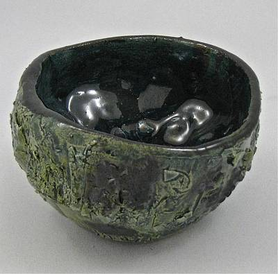 Sculpture - Tea Bowl #5 by Mario MJ Perron