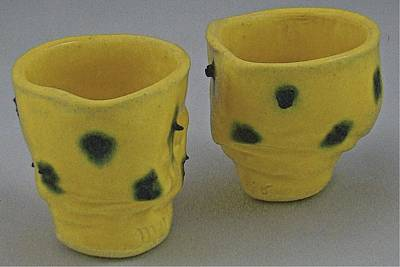 Sculpture - Tea Bowls - Cheetahs by Mario MJ Perron