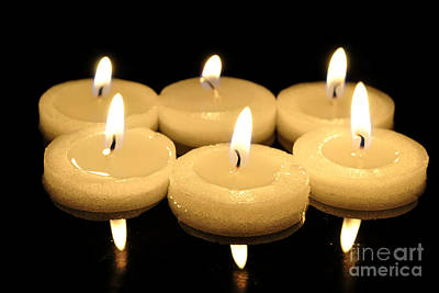 Diwali Photograph - Tea Candles by Martin Capek