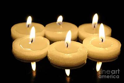Diwali Photograph - Tea Candles by Martin Capek