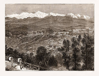 Tea Cultivation In British India View Of Darjeeling Art Print by Litz Collection