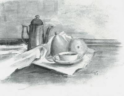 Education Painting - Tea For Madame by Maria Hunt
