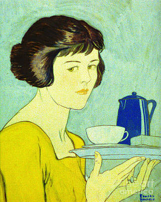 Colored Woman Art Drawing - Tea For One 1884 by Padre Art