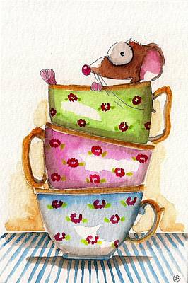 Cup Painting - Tea For One by Lucia Stewart