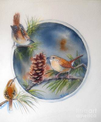 Tea For Three Art Print by Patricia Pushaw