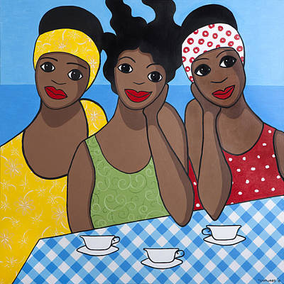 Saba Painting - Tea For Three by Trudie Canwood