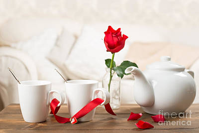 Table Setting Photograph - Tea For Two by Amanda Elwell
