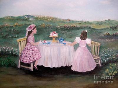 Tea Party Painting - Tea For Two by Rhonda Lee