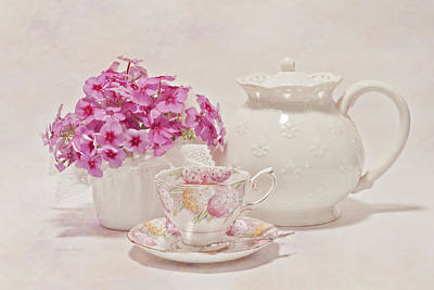 Victoria Magazine Style Photograph - Tea For You by Sandra Foster