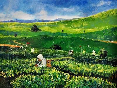 Painting - Tea Garden by Auckel Vishal
