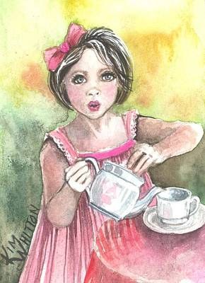 Tea Granny Art Print by Kim Sutherland Whitton