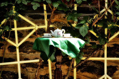 Tea In The Backyard Art Print by Bill Cannon