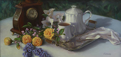 Painting - Tea In The Garden by Diane Reeves