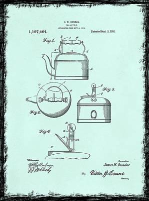 Tea Kettle Patent 1916 Art Print by Mark Rogan