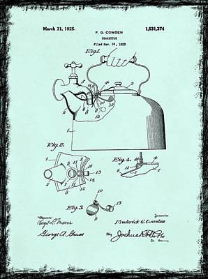 Tea Kettle Patent 1923 Art Print by Mark Rogan