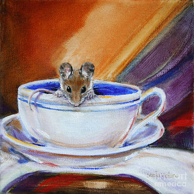 Painting - Tea Mouse by Stella Violano