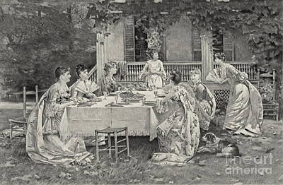 Tea Party 1887 Art Print by Padre Art