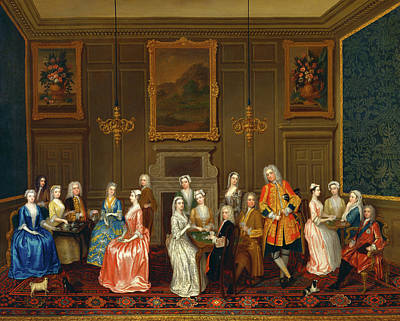 Tea Party Painting - Tea Party At Lord Harringtons House by Litz Collection