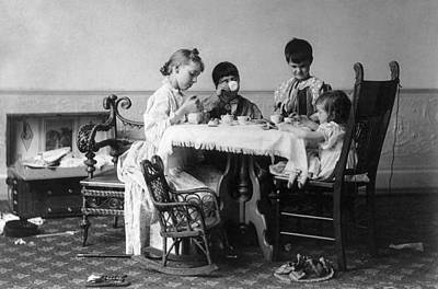 Photograph - Tea Party, C1893 by Granger
