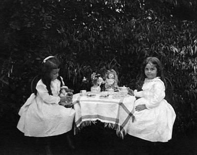 Photograph - Tea Party, C1900 by Granger