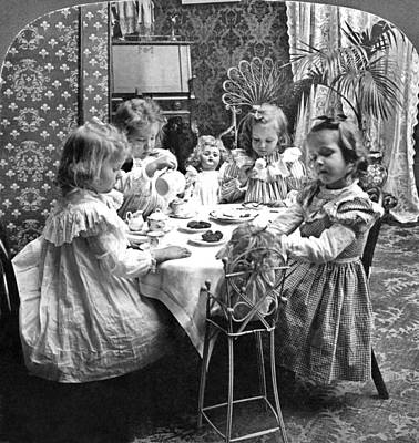 Photograph - Tea Party, C1902 by Granger