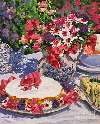 Tea Party Art Print by David Lloyd Glover