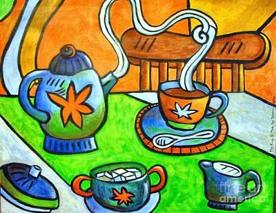 Mixed Media - Tea Party by Doreen Kirk