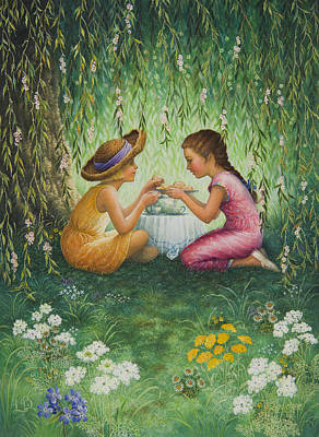 Tea Party Print by Lynn Bywaters