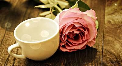 Bistro Digital Art - Tea Petals by Sheena Pike