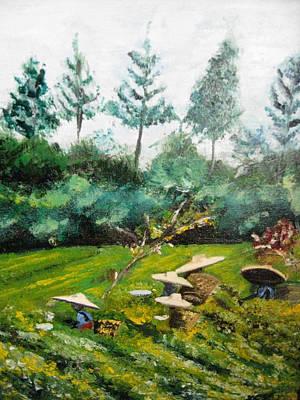 Tea Plantation In Indonesia Art Print