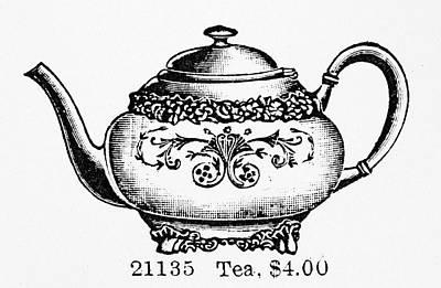 Silver Tea Pot Painting - Tea Pot, 1895 by Granger