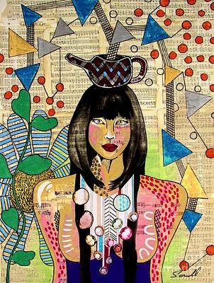 Mixed Media - Tea Pot Hot by Amy Sorrell