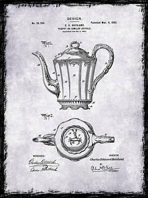 Grinders Photograph - Tea Pot Patent 1902 by Mark Rogan